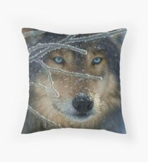 Wolf Eyes Throw Pillow
