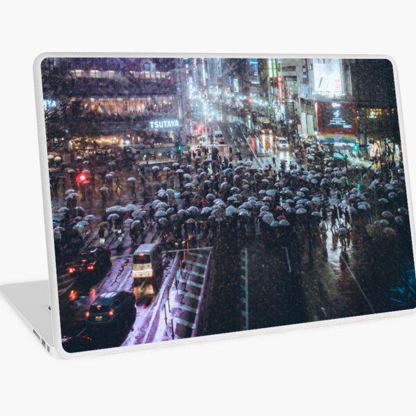 Shibuya crossing at Rainy Night Laptop Skin