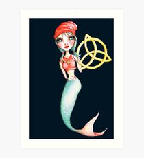Meara the Irish Mermaid Art Print
