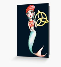 Meara the Irish Mermaid Greeting Card