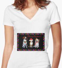 Christmas Trio Fitted V-Neck T-Shirt