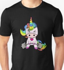 Einhorn Gewichtheben Unisex T-Shirt