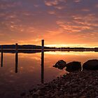 Sunrise on the Derwent River by Clare Colins