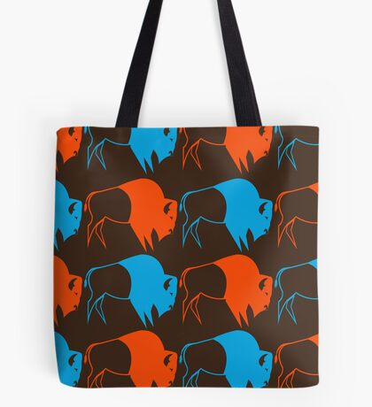 Orange Blue Buffalo Nation Tote Bag