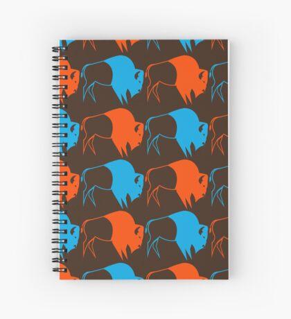 Orange Blue Buffalo Nation Spiral Notebook