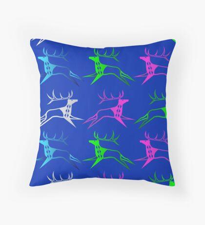 Elk Dreamers Throw Pillow