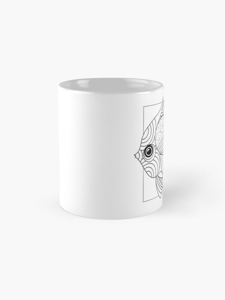 Alternate view of Just Add Colour - Fanciful Fish Mugs