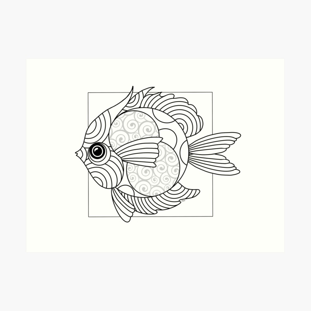 Just Add Colour - Fanciful Fish Art Print