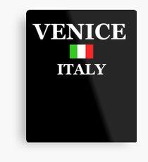 Venice Italy Souvenir Shirt Italian Flag Family Vacation Gift Metal Print