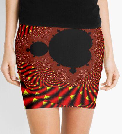 Mandelbrot - Fire Mini Skirt