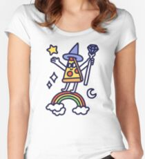 Wizard Pizza Fitted Scoop T-Shirt