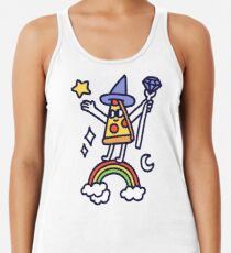 Wizard Pizza Racerback Tank Top