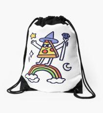 Wizard Pizza Drawstring Bag