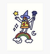 Wizard Pizza Art Print