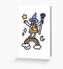Wizard Pizza Greeting Card
