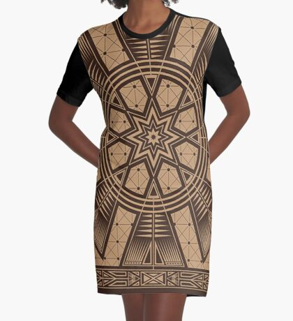 Vintage Native American Gathering Graphic T-Shirt Dress