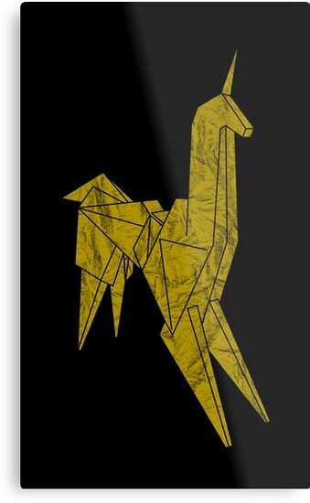 Blade Runner - Gold Texture Unicorn by Candywrap Design