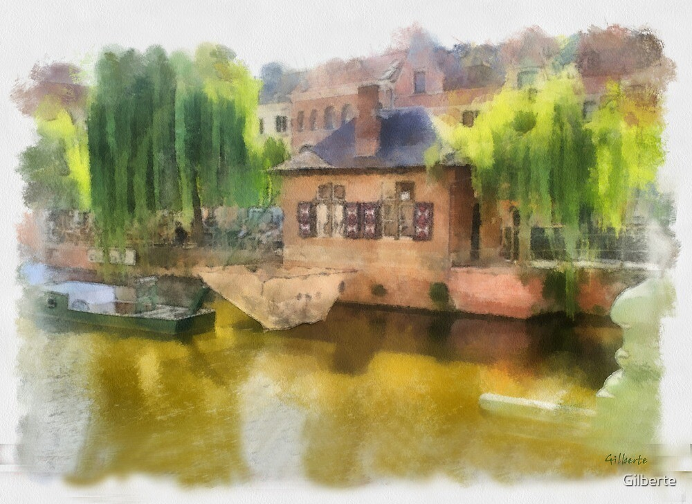 Buyldragershuis - Lier - Belgium - aquarel by Gilberte