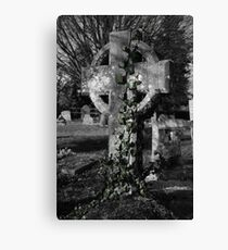 Tombstone with Ivy Canvas Print