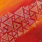 «acción geométrica triangular roja» de artetbe