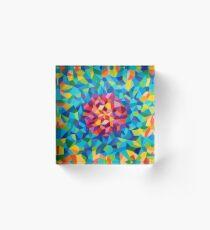 pintura geométrica colorida Bloque acrílico