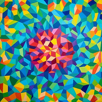 colorful geometric painting by artetbe