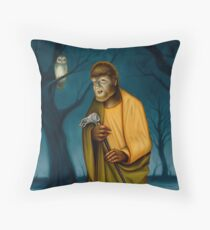 Song of the Owl Throw Pillow