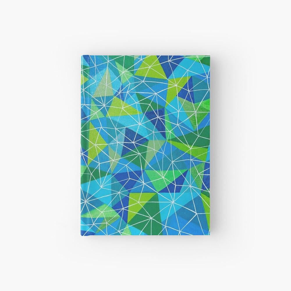 conexión geométrica poli arte Cuaderno de tapa dura