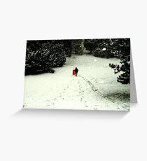 sledding Greeting Card