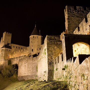 Carcassonne at night by ChrisSinn