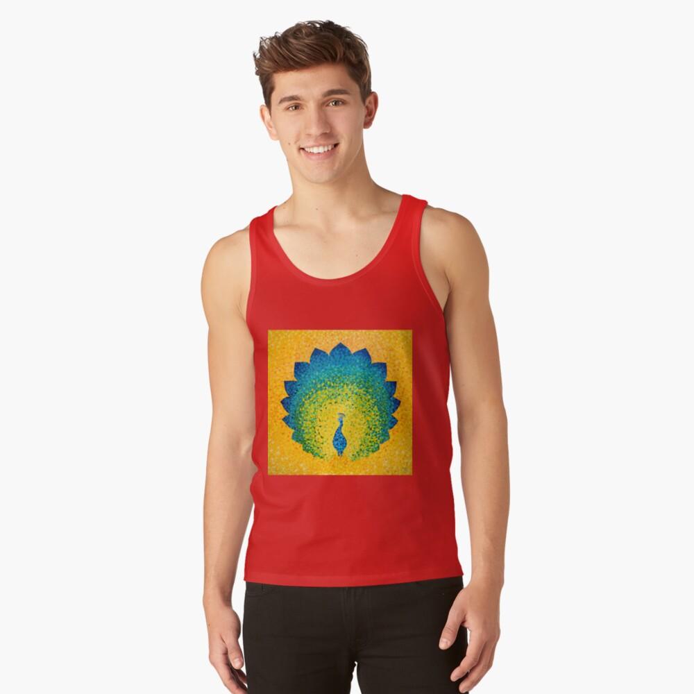 Colorido pavo real solar Camiseta de tirantes