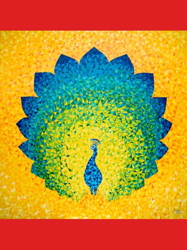 Colorido pavo real solar de artetbe