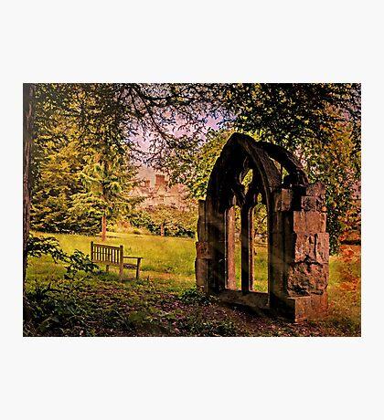 Manor house landscape. Photographic Print