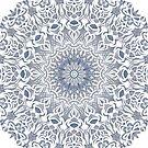 Tribal Mandala Blue by pASob-dESIGN