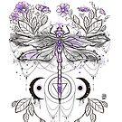 Purple dragonfly by Daisyart-lab