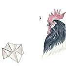Origami chicken by experimentons