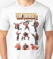 Team Fortress 2 - All Characters / Classes with TF2 Logo T-Shirt