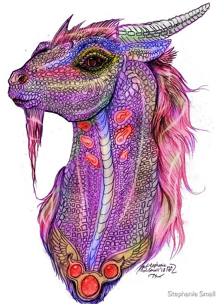 Japanese Dragon Unicorn Horse Pony equine equus kir'rin kirin kilin quilin quillin qui'lin by Stephanie Small