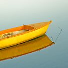 Yellow boat and yellow buoy by retouch