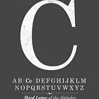 Letter C Monogram with Alphabet by Kelsorian