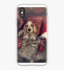 Christmas dog iPhone Case