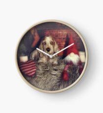 Christmas dog Clock