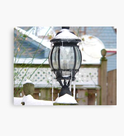 light in the snow Canvas Print