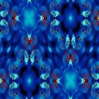 Repetitive Pattern in Blue by Beatrice Beute