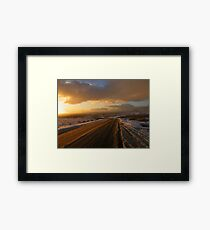 Dartmoor: The Road Across the Moor - Time to go Home Framed Print