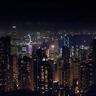 Hongkong skyline at night by Pascal Deckarm