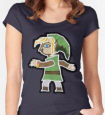 A Link Between Worlds Green Women's Fitted Scoop T-Shirt