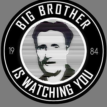 George Orwell 1984 - Big Brother is watching by Calgacus