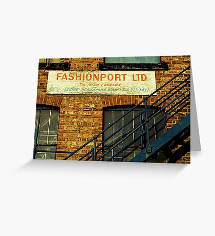 Fashion Is On The Way Up Greeting Card