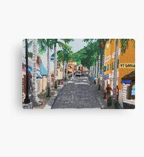 Uptown St. Maarten Leinwanddruck